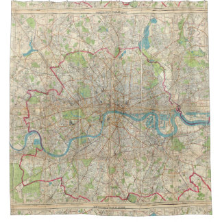 Vintage Map of London England (1899)