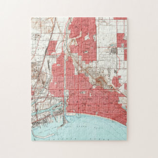 Vintage Map of Long Beach California (1949) 3 Jigsaw Puzzle