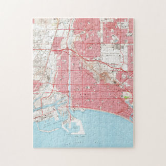 Vintage Map of Long Beach California (1964) 2 Jigsaw Puzzle