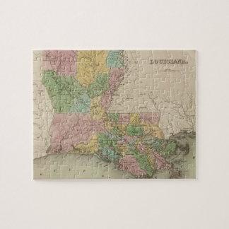 Vintage Map of Louisiana (1838) Jigsaw Puzzle