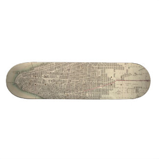 Vintage Map of Lower New York City (1840) Custom Skateboard
