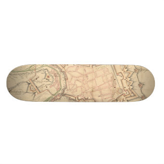 Vintage Map of Luxembourg (1686) Skate Decks