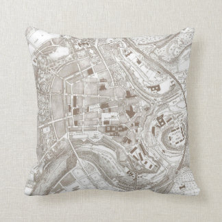 Vintage Map of Luxembourg Belgium (1907) Throw Pillow