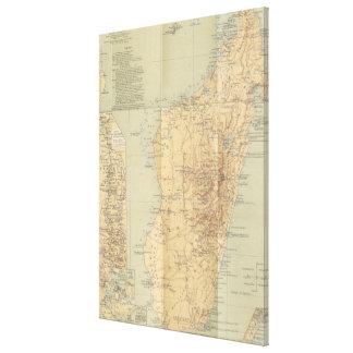 Vintage Map of Madagascar (1896) Canvas Print