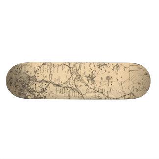Vintage Map of Maine (1894) Custom Skateboard
