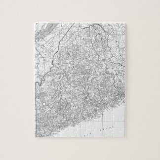 Vintage Map of Maine (1911) Jigsaw Puzzle