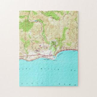 Vintage Map of Malibu California (1950) Jigsaw Puzzle