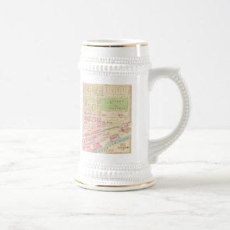 Vintage Map of Manchester NH (1892) (2) Beer Stein