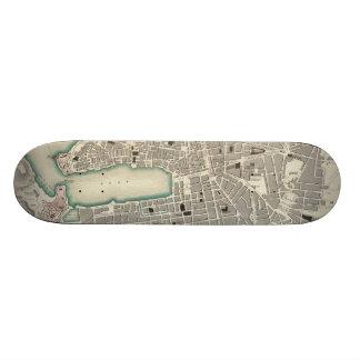 Vintage Map of Marseille France (1840) Skate Board