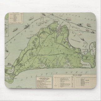 Vintage Map of Marthas Vineyard (1913) Mouse Pad