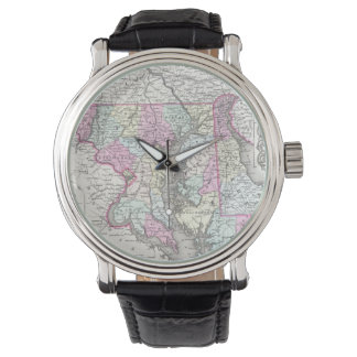 Vintage Map of Maryland (1855) Watch