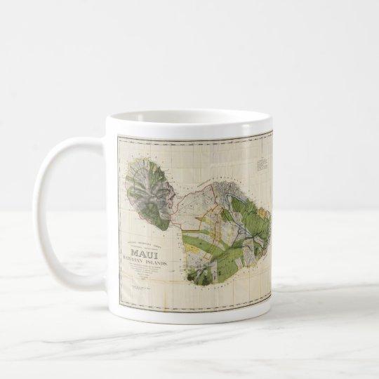 Vintage Map of Maui Island (1906) Coffee Mug