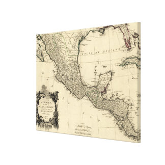 Vintage Map of Mexico (1779) Canvas Print