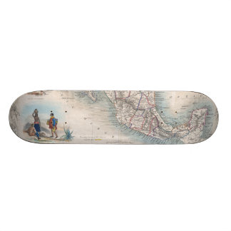 Vintage Map of Mexico (1851) Custom Skateboard