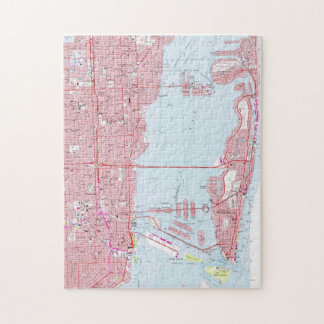 Vintage Map of Miami Florida (1962) Jigsaw Puzzle