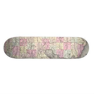 Vintage Map of Michigan (1855) Custom Skate Board