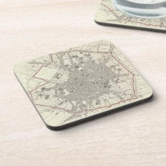Vintage Map of Milan Italy (1832) Drink Coasters