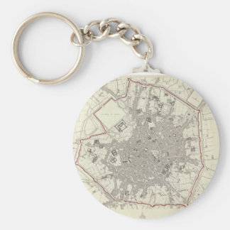 Vintage Map of Milan Italy (1832) Keychain