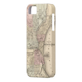 Vintage Map of Milwaukee (1880) iPhone 5 Cover