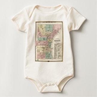 Vintage Map of Milwaukee Wisconsin (1878) Baby Bodysuit