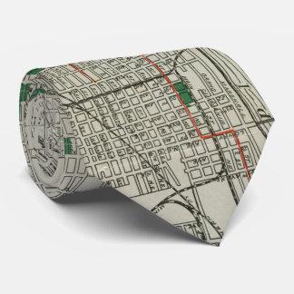 Vintage Map of Minneapolis Minnesota (1921) Tie