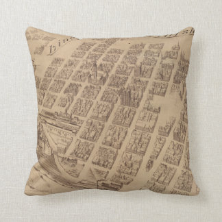 Vintage Map of Minneapolis MN (1891) 2 Throw Pillow