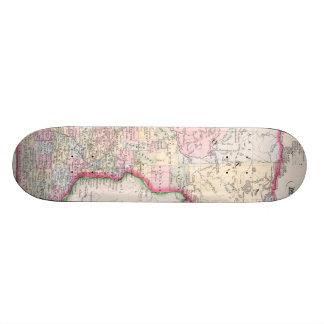 Vintage Map of Minnesota (1864) Skateboard Deck