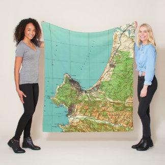 Vintage Map of Monterey California (1941) Fleece Blanket