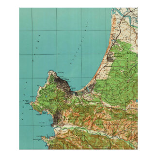 Vintage Map of Monterey California (1941) Poster