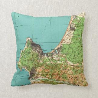 Vintage Map of Monterey California (1941) Throw Pillow