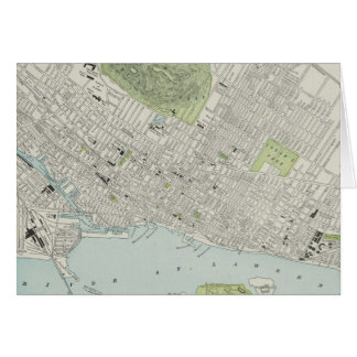 Vintage Map of Montreal (1901) Greeting Card