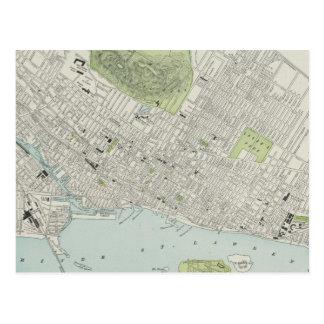 Vintage Map of Montreal (1901) Postcard
