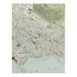 Vintage Map of Montreal (1901) Post Cards