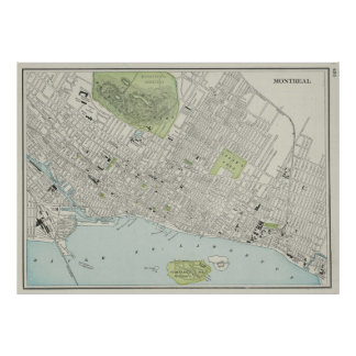 Vintage Map of Montreal (1901) Posters