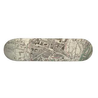 Vintage Map of Munich Germany 1832 Skateboard Deck