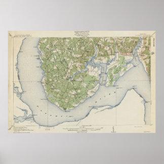 Vintage Map of Nanjemoy Maryland (1911) Poster