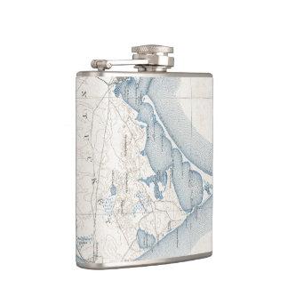 Vintage Map of Nantucket (1919) Hip Flask