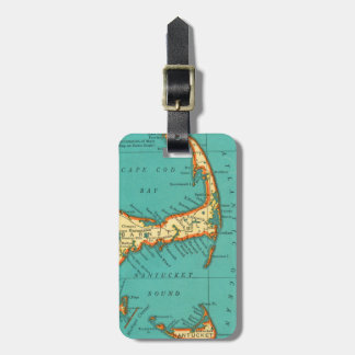 Vintage Map of NANTUCKET CAPE COD Luggage Tag
