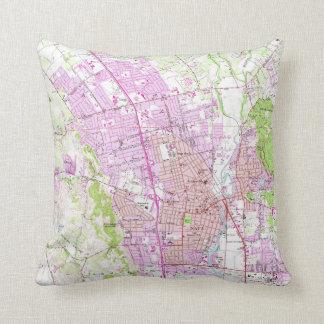 Vintage Map of Napa California (1951) Throw Pillow