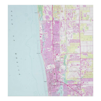 Vintage Map of Naples Florida (1958) Poster