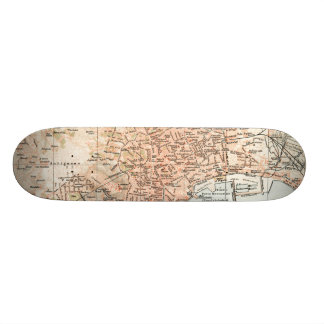 Vintage Map of Naples Italy (1897) Skateboard Decks