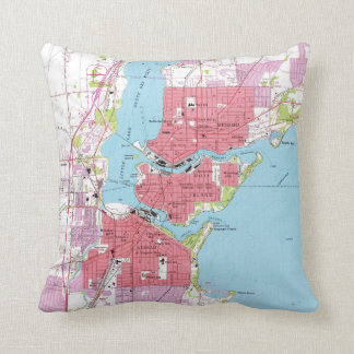 Vintage Map of Neenah Wisconsin (1955) Throw Pillow