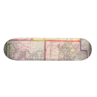 Vintage Map of Nevada and Utah 1866 Skateboard