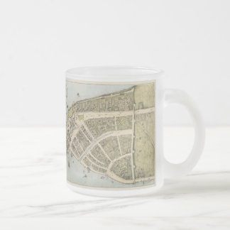 Vintage Map of New Amsterdam (1660) Frosted Glass Coffee Mug