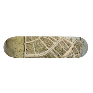 Vintage Map of New Amsterdam (1660) Skate Deck