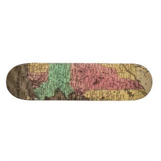 Vintage Map of New England 1836 Skate Deck