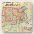 Vintage Map of New England States (1900) Coaster