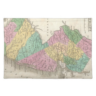 Vintage Map of New Jersey (1827) Placemat