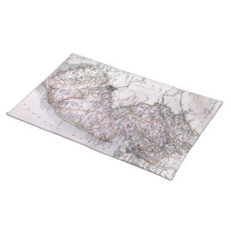 Vintage Map of New Jersey (1884) Place Mats