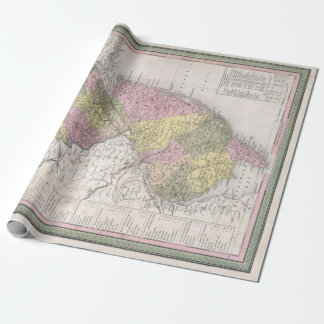 Vintage Map of New Jersey Wrapping Paper